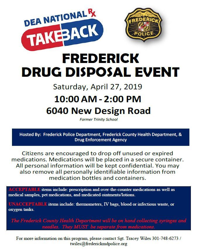 drug disposal event