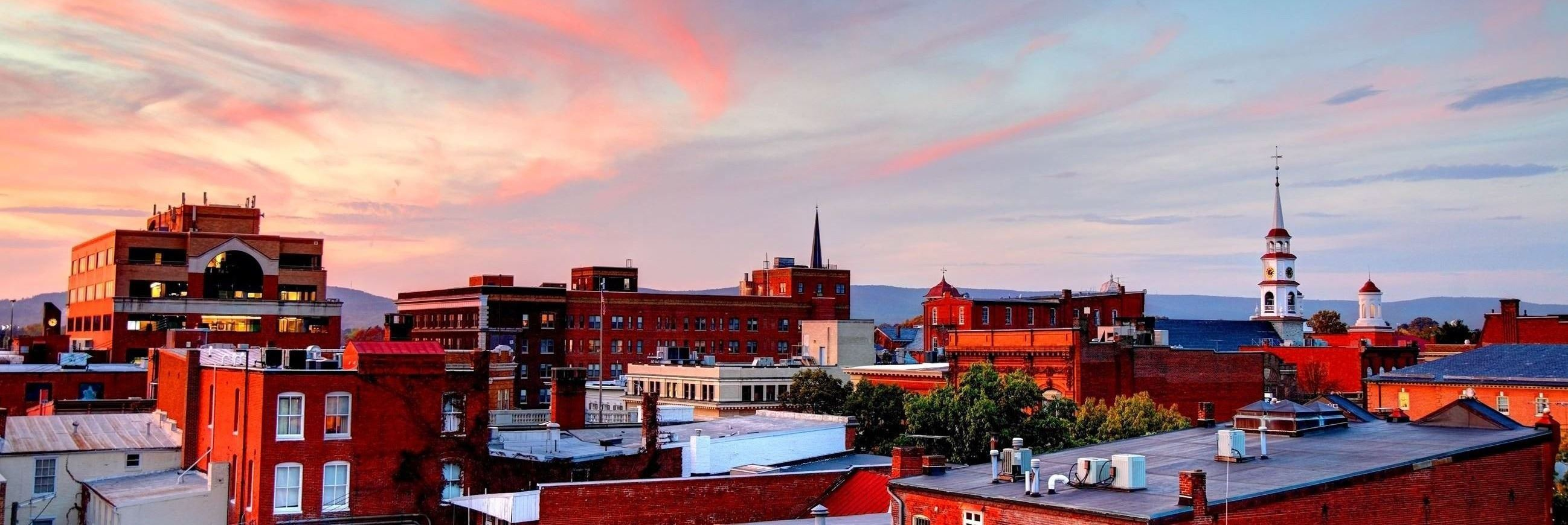 Downtown Frederick at Dusk