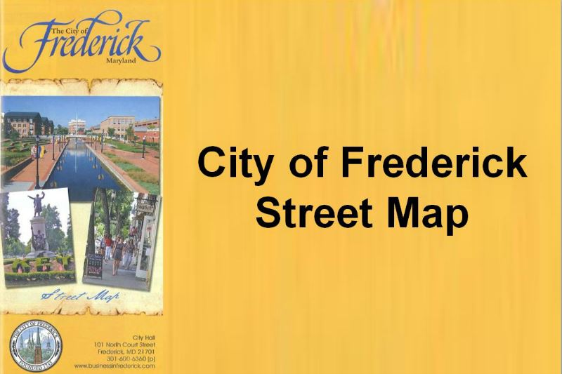 City of Frederick Street Map